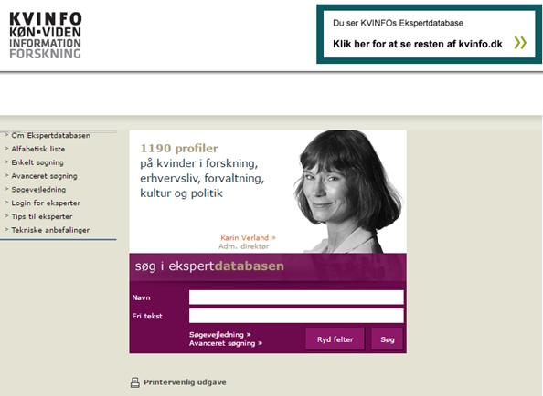 KVINFO Expert database